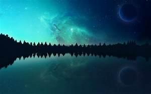 nebula, Space, Planet, Lake, Evening, Photo manipulation ...