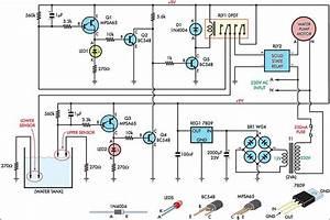 Automatic Water Tank Filler Circuit Diagram Circuit