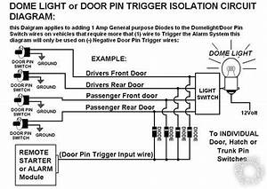 Diode Isolate Negative Door Trigger  Switches