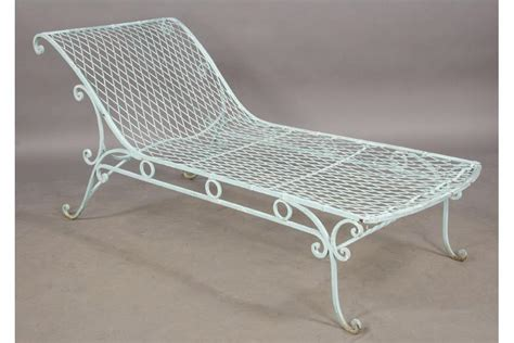 chaise metal vintage wrought iron chaise lounge savitatruth com