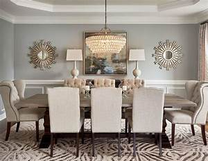 59020 round mirror in dining room dining room transitional With kitchen cabinet trends 2018 combined with large wall art for dining room