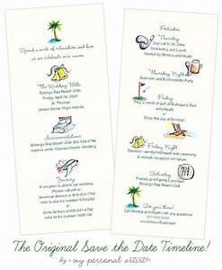 destination wedding save the date timeline cards custom With timeline for wedding invitations and save the dates