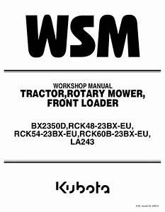 Kubota Front Loader Service Repair Manual