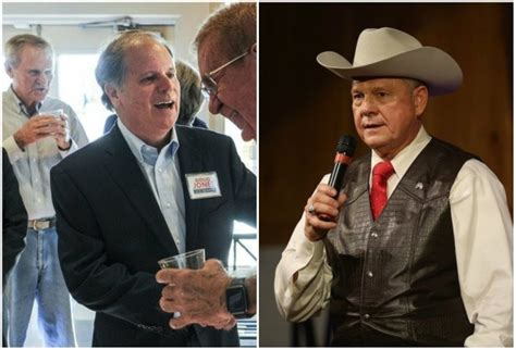 doug jones political party roy moore versus democrat doug jones alabama senate race