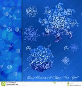 Blue Christmas Card Royalty Free Stock Photo - Image: 34388815
