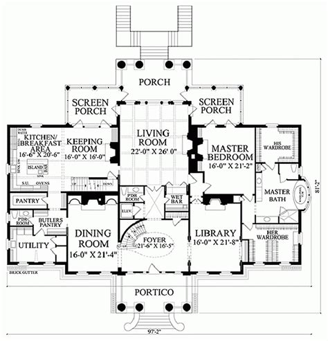 Butlers Pantry Floor Plans Classical Style House Plan 5 Beds 6 Baths 10735 Sq Ft
