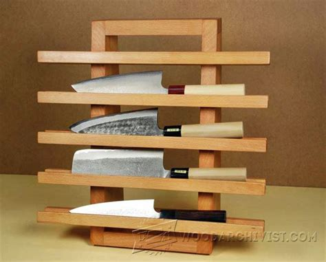 knife rack plans woodarchivist