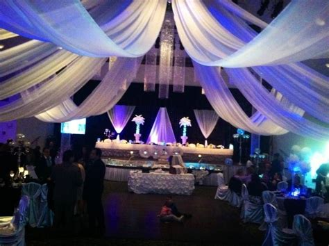 Drape Decoration - wedding events ceiling drapes drapes lights