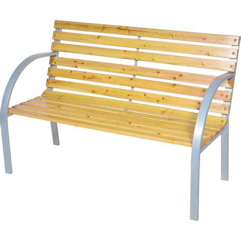 Gartenbank Metall Holz by Gartenbank 122cm 2sitzer Sitzbank Holz Metall Parkbank