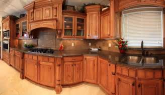 Brown Kitchen with Granite Countertops
