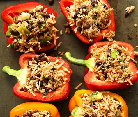 stuffed peppers with rice recipe stuffed peppers with cauliflower rice