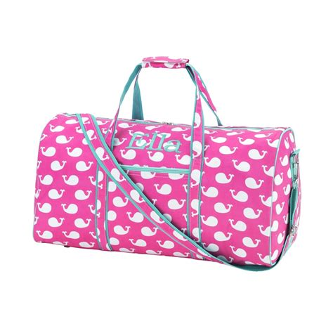 personalized monogrammed  duffle gym sports bag girls