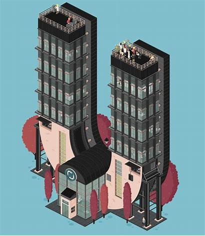 Buildings Animated Letters Imaginary Animations Transform Charming