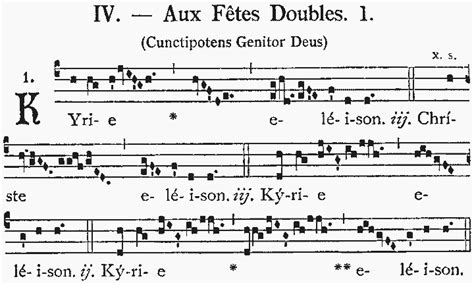 gregorian chant modern songs kyriale iv cunctipotens genitor deus sanctamissa org