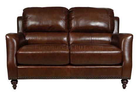 brown full italian leather classic pc sofa set wwooden legs