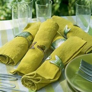 Rond De Serviette à Faire Soi Même : fabriquer des ronds de serviettes en forme de poissons ~ Nature-et-papiers.com Idées de Décoration