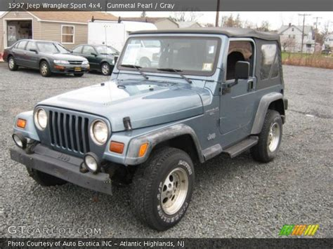 gunmetal blue jeep gunmetal pearl 1997 jeep wrangler sport 4x4 gray