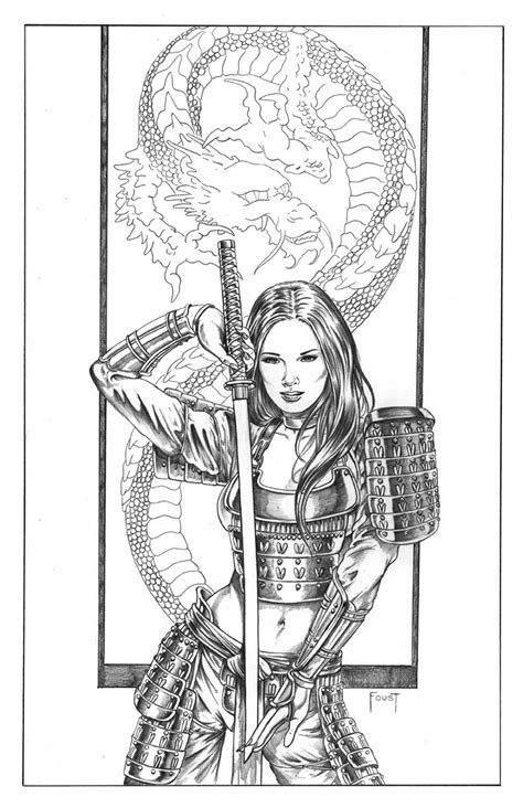 Female Samuria warrior | Comic art, Sketches, Art