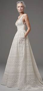 30 effortlessly chic wedding dresses with pockets for Lace wedding dress patterns