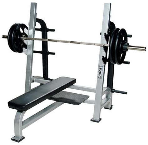 York® Commercial Olympic Flat Barbell Bench Press Jackeeboyz
