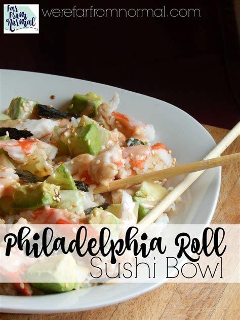 cuisiner sushi philadelphia roll sushi bowl repas cuisiner et cuisine