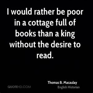 Cottage Quotes ... Macaulay Thomas Quotes
