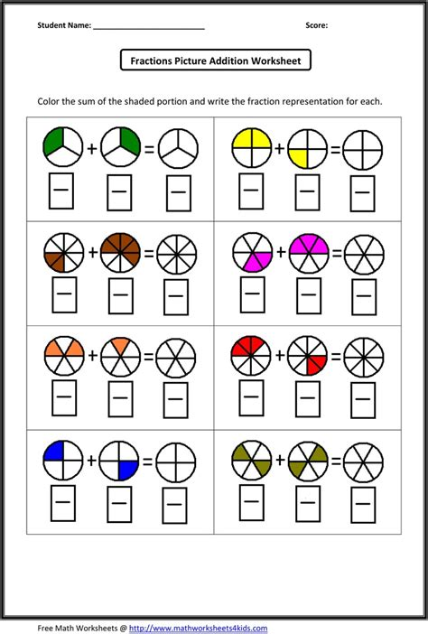 fraction addition worksheets what s new