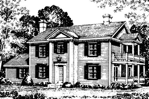 colonial house plans rossford    designs