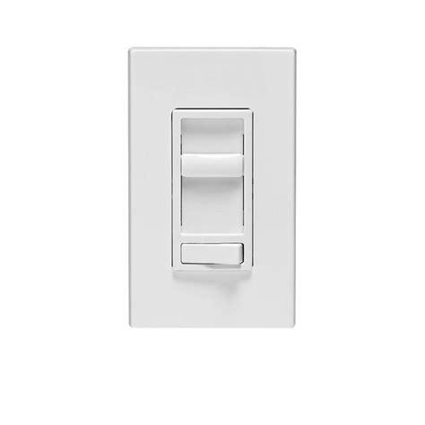 leviton sureslide  watt single pole  incandescent cfl led  dimmer white