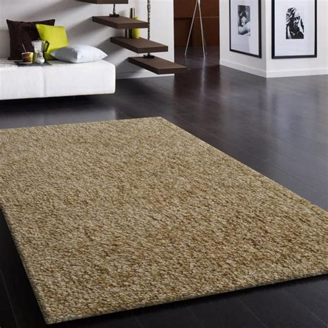 hand tufted tone beige thick plush shag area rug rug