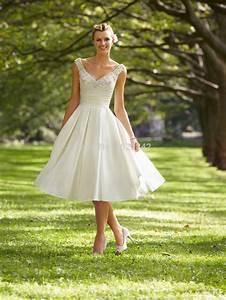 Free shipping short wedding dress robe de mariage romantic for Short white beach wedding dresses