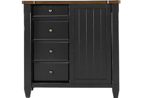 cottage town black gentlemans chest traditional