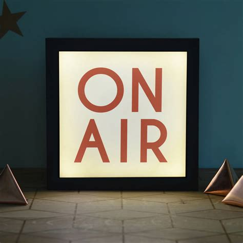 on air light vintage style on air light box by oakdene designs
