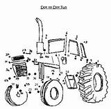 Dot Printable Tractor Bookmarks Western Coloring sketch template