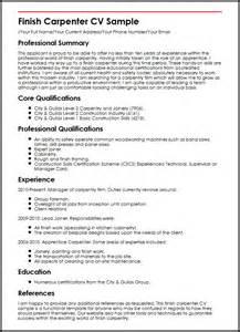 resume template engineer australia skill finish carpenter cv sle myperfectcv