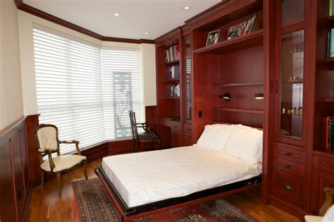 condo office  murphy bed built ins traditional