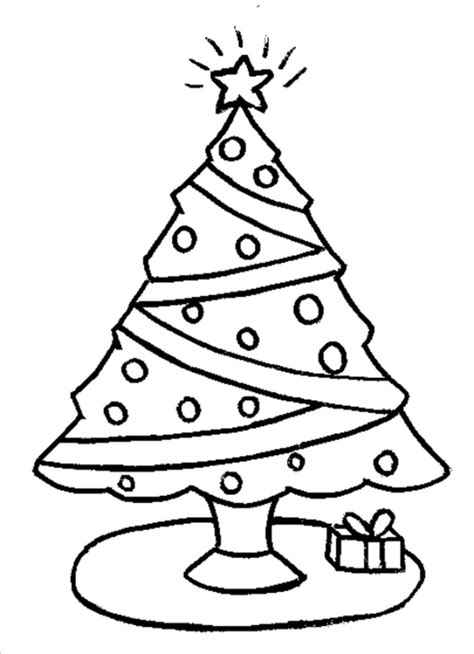 printable christmas tree for kids tree coloring pages