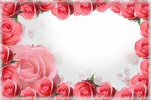 Pink PNG Roses Frame | Gallery Yopriceville - High-Quality ...