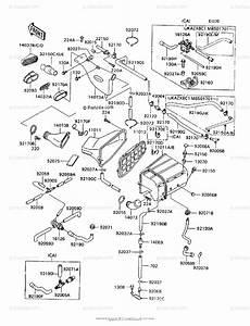 Kawasaki Motorcycle 1991 Oem Parts Diagram For Air Filter