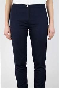 Combinaison Pantalon Femme Bleu Marine : pantalon bleu marine femme droit en laine made in france atode ~ Dallasstarsshop.com Idées de Décoration