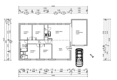 plan maison 100m2 plein pied 3 chambres plan d 39 une maison plein pied de 100m2