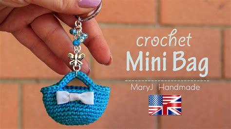 tutorial crochet miniature bag youtube