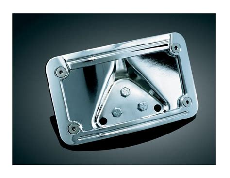 Kuryakyn Led Curved Laydown License Plate Frame For Harley