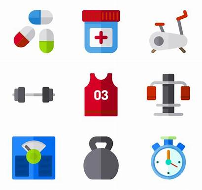 Gym Clipart Icon Icons Equipment Fitness Vector