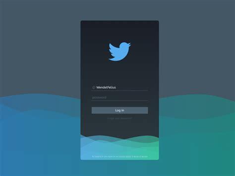 Twitter login by Wendel Felius on Dribbble