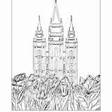 Temple Lds Coloring Lake Salt sketch template