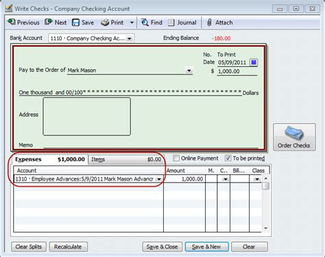 QuickBooks Payroll Tip - Tracking Employee Advances or ...