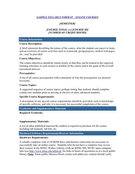 course outline template course syllabus template