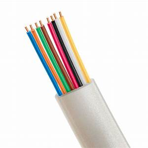 Phone Cable Flat 8 Wire  Solid  Silver
