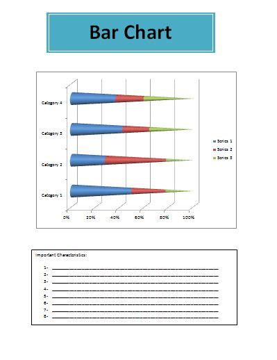bar chart template  printable excel word template